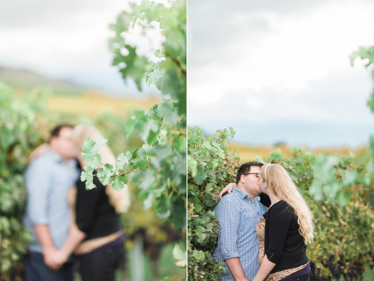 kelowna vineyard engagement photos
