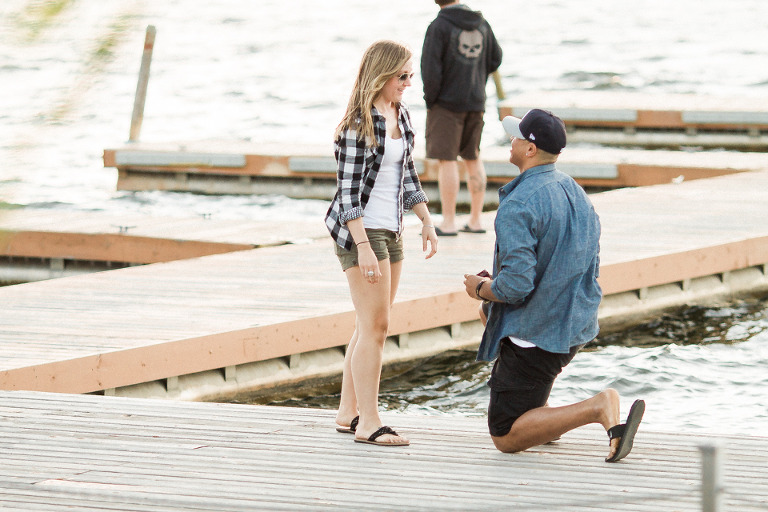 lake dock engagement proposal ideas
