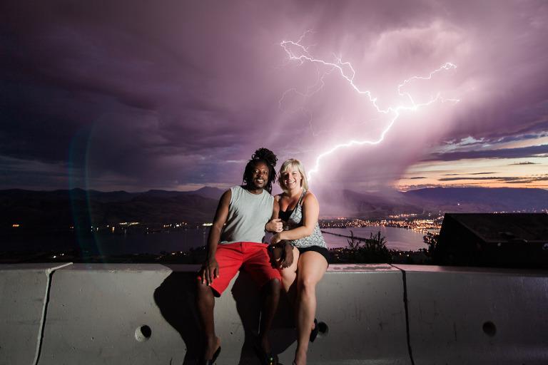 lightning wedding photos