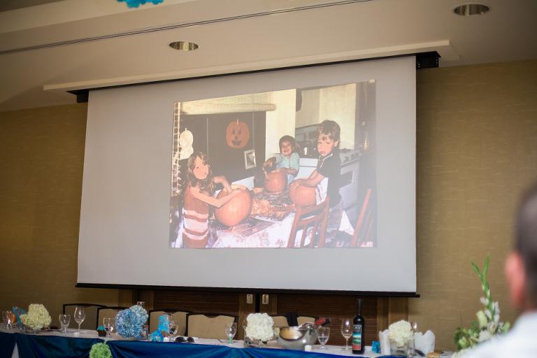 penticton wedding projector slide show