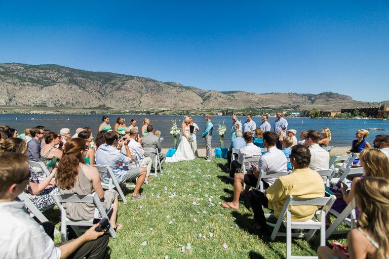 watermark resort beachfront wedding lake